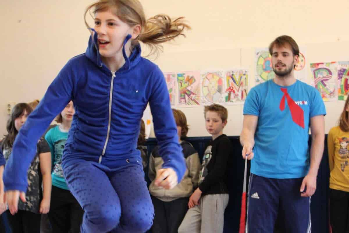 Basisschool workshop Springtouwen
